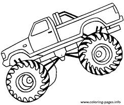 Easy Monster Truck Big Coloring Pages Printable