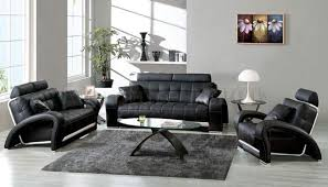 Leather Sitting Chair Design Ideas Living Room Furniture Living Room Modern Black Leather Sofa With
