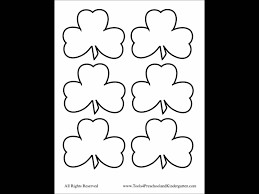 shamrock 3 leaf clover templates free st patricks day youtube