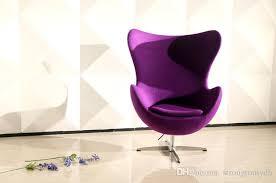 Modern Ball Chair 2017 Arne Jacobsen Egg Chair Fabric Sofa Classic Furniture Fashion