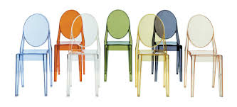 Stacking Dining Chairs by Victoria Ghost Stacking Patio Dining Chair U0026 Reviews Allmodern