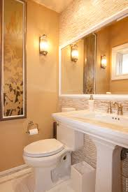 Mirrors For Small Bathrooms Powder Room Mirror Bathroom Contemporary With Neutral Colors Wall