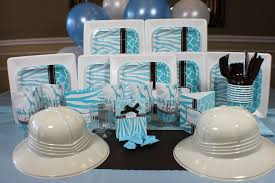 Wild Safari Blue Baby Shower by Blue Safari Deluxe Box Welcome To Www Quickpartybox Com Your