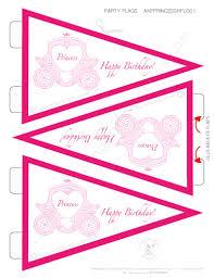 printable birthday decorations free princess party