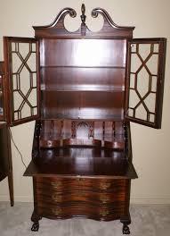 Small Secretary Desk Antique Chippendale Mahogany Serpentine Front Antique Secretary Desk
