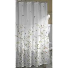 Fabric Shower Curtain With Window Dragonfly Garden Fabric Shower Curtain Walmart