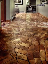 floor made from waste product from local pallet factory installed