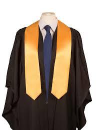 graduation stoles 5 x graduation stoles sash in satin gold co uk clothing