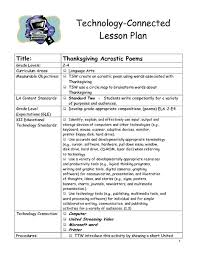 thanksgiving acrostic poems 2nd 4th grade lesson plan lesson
