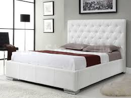 Diamante Bedroom Set Beds Michelle Crocodile Pattern Upholstered Storage Bed White