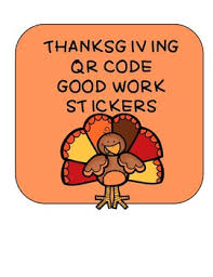 thanksgiving stickers thanksgiving qr code labels stickers by teaching high