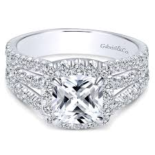 wedding rings pave images 14k white gold diamond cushion cut halo triple pave 14k white gold jpg