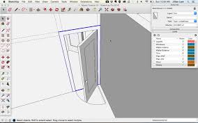 sketchup tutorial how to modify the dimensions of a door