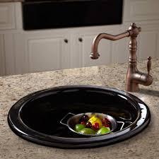 copper kitchen faucet furniture accessories round black modern top mount porcelain