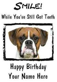 boxer dog happy birthday pid107 a5 personalised greeting card