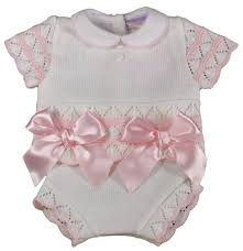baby girl bows baby girl bows knitted jam knickers top pink