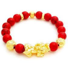 lucky charm red bracelet images Feng shui golden pi yao pi jpg