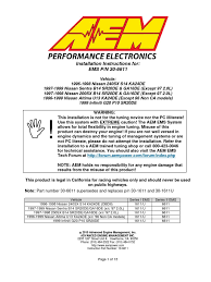 nissan sentra user manual installation instructions 30 6611 pdf fuel injection throttle