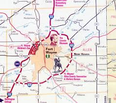 map of allen indiana allen county every county