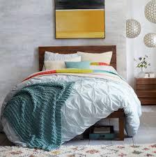 gray pintuck duvet cover home design ideas