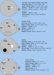 lucas alternator wiring diagram one wire wiring diagram components