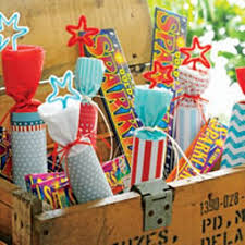 Picnic Decorations Spark Up Your 4th Of July Picnic Table With Faux Firecracker