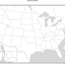 map of united states unlabeled map of united states map of usa