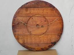 circular wood wall large with decoupage on wood circular wall