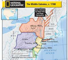 Map Of New England Colonies hudson isd unit 3 colonial life