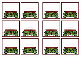 teenage mutant ninja turtles tags u2013 birthday printable