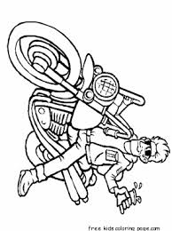 boy on motorcycle coloring page for kidsfree printable coloring