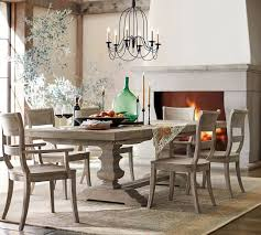 Dining Table With Grey Chairs Banks Extending Dining Table Grey Wash Pottery Barn