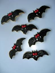 Bat Cookies For Halloween by Bake Your Face Off