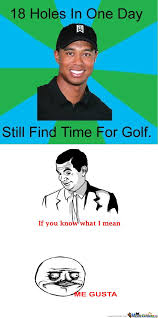 Tiger Woods Memes - rmx tiger woods meme 18 holes in one day by trigre102 meme center