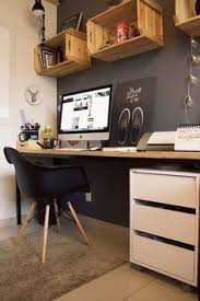 Home Offices Ideas Chic First Floor Home Office Features Floor To Ceiling White Built