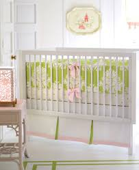 Pink And Green Crib Bedding Pretty In Pink Nursery
