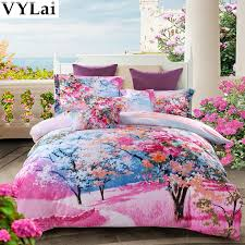 Girls King Size Bedding by Pink Flower Girls 3d Bed Linen Set Queen King Size Bedding Sets