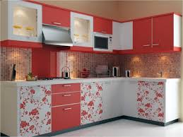 stunning red and white kitchen cabinets for house remodel plan