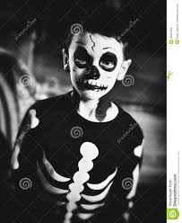 Skeleton Halloween Costume Kids Skeleton Kids Costume Stock Photo Image 46252390