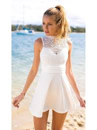 white dress buy a line sleeveless open back white homecoming dress