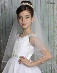 holy communion veils communion veil with floral pearl cluster band