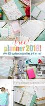 free planner 2018 over 200 customizable files the handmade home