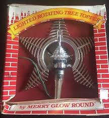 vintage merry glow electric spinning rotating tree