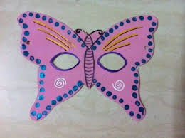 foam butterfly face mask projects and craft ideas