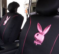 pink and black cars playboy car seat cover front u0026 rear metallic pink on black mesh