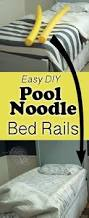 diy toddler bed rails from pool noodles the kim six fix