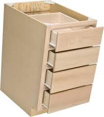 4 drawer base cabinet quality one 18 x 34 1 2 unfinished oak 4 drawer base cabinet at