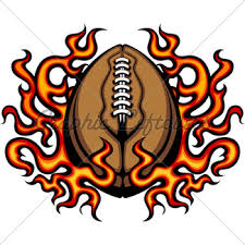 american football template with flames vector i gl stock images