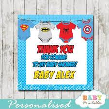 Baby Shower Favor Messages - 50 best superhero baby shower printables images on pinterest