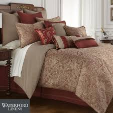 Rust Comforter Cavanaugh Paisley Comforter Bedding By Waterford Linens